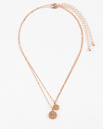 Gem Circle Layered Necklace