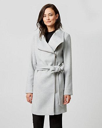 Wool Twill Convertible Coat
