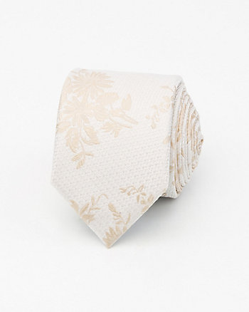 Tonal Floral Print Microfibre Tie