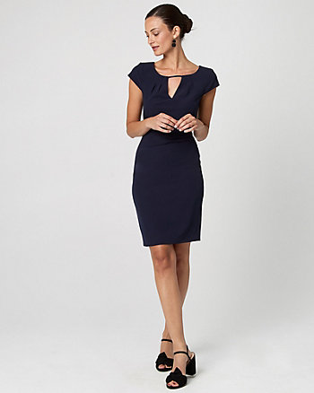 Gabardine Sheath Dress