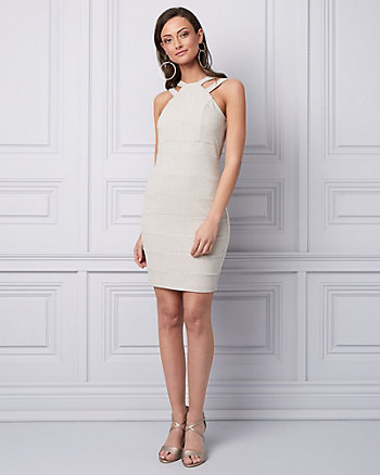 Sparkle Knit Banded Cocktail Dress