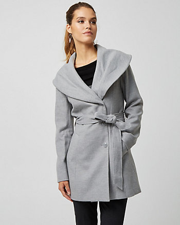 Cashmere-like Belted Coat
