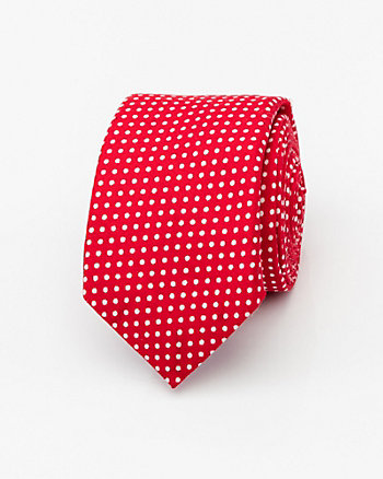 Dot Print Cotton Tie