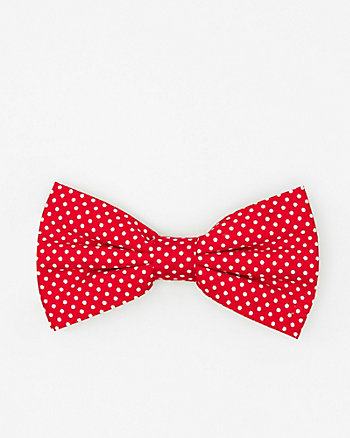 Dot Print Cotton Bow Tie