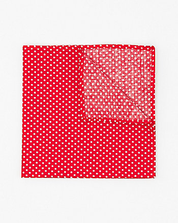 Dot Print Cotton Pocket Square