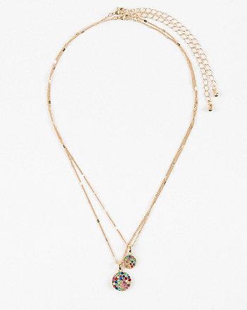 Gem Circle Layered Necklace