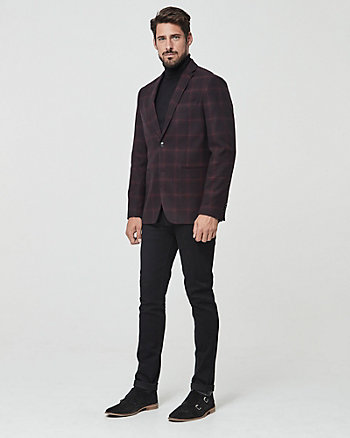 Shadow Check Print Contemporary Fit Blazer