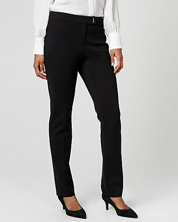 Ponte Knit Straight Leg Trouser