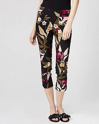 Floral Tech Stretch Skinny Leg Crop Pant