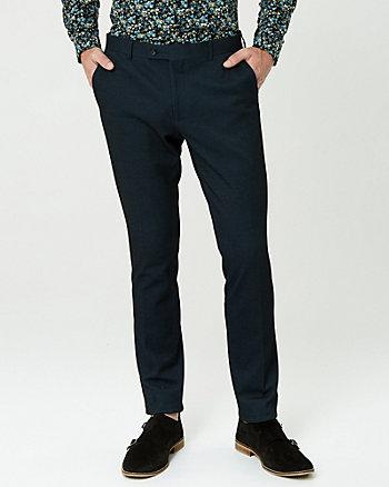 Tonal Knit Slim Leg Pant