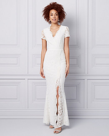 Lace Wrap-Like Gown