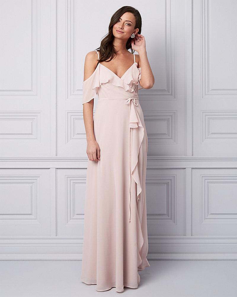 825941986 Chiffon Cold Shoulder Gown | LE CHÂTEAU