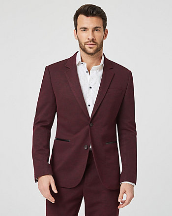 Space-Dye Knit Contemporary Fit Blazer