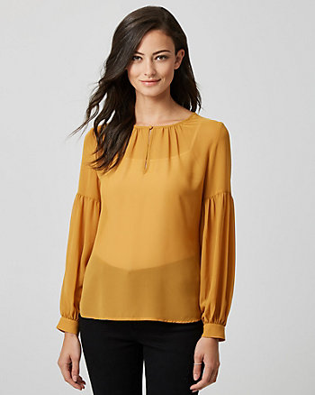 Chiffon Split Neck Blouse