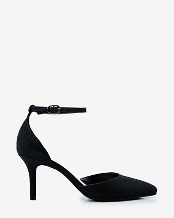 Glitter Ankle Strap d'Orsay Pump