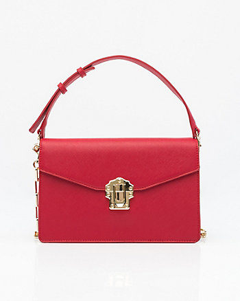 Saffiano Faux Leather Bag