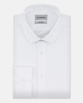 Floral Print Cotton Blend Athletic Fit Shirt