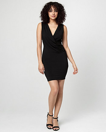 Draped Wrap Cocktail Dress