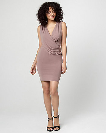 Cowl Neck Wrap-Like Dress