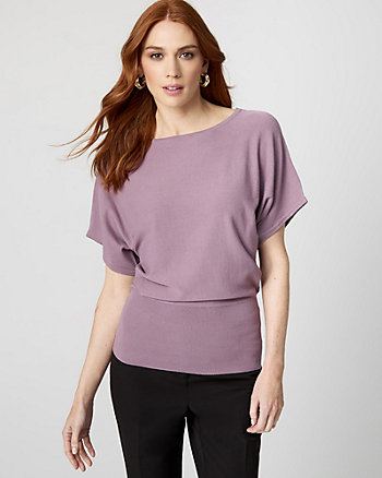 Jersey Dolman Sleeve Sweater