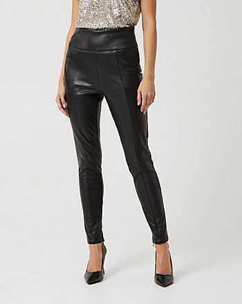 Faux Leather Skinny Leg Pant