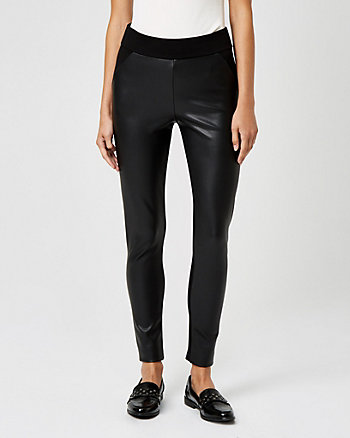 Leather-like Skinny Leg Pant