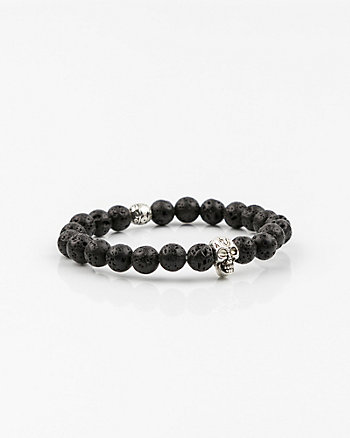 Skull Bead Stretch Bracelet