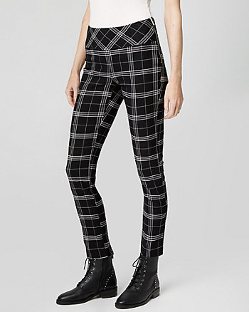 Check Print Tech Stretch Skinny Leg Pant