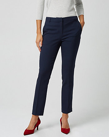 Viscose Blend Slim Leg Trouser