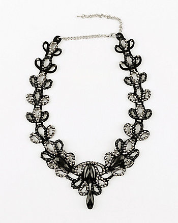 Filigree Gem Collarbone Necklace