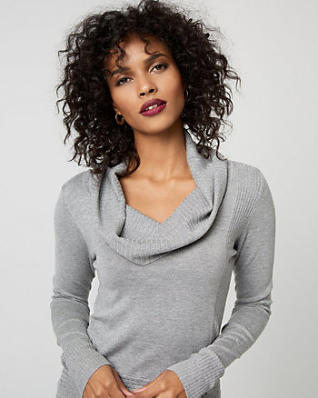Viscose Blend Cowl Neck Sweater