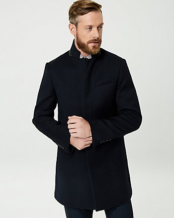 Wool Twill Top Coat
