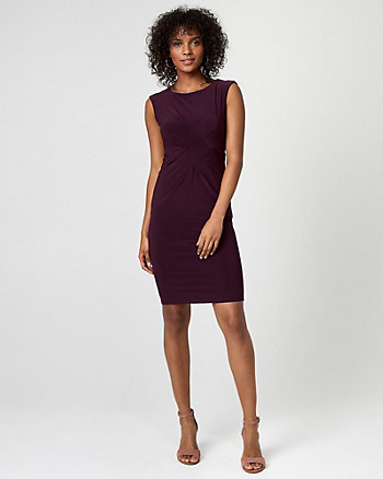 Knit Scoop Neck Sheath Dress