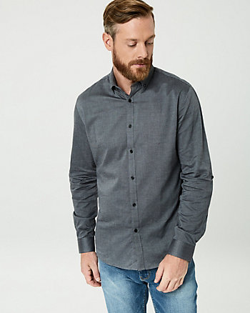 Cotton Piqué Slim Fit Shirt
