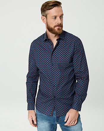 Medallion Print Cotton Regular Fit Shirt