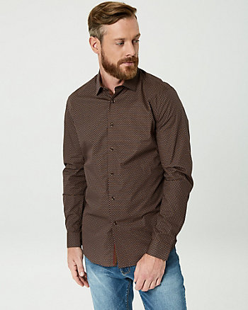 Geo Print Cotton Slim Fit Shirt