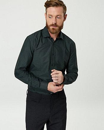 Geo Print Cotton Poplin Tailored Fit Shirt