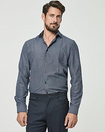Chemise à motif de coupe ajustée