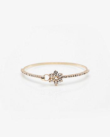 Floral Gem Bangle Bracelet