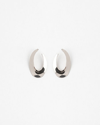 32mm Metal Oval Hoop Earrings