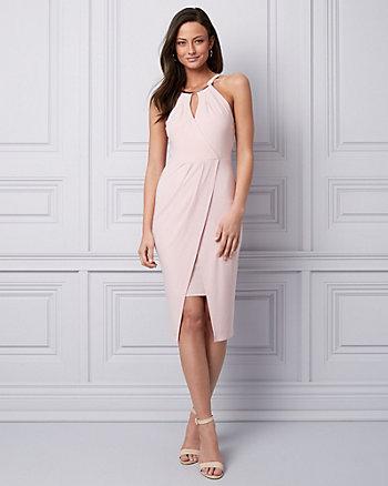 Knit Wrap-Like Cocktail Dress