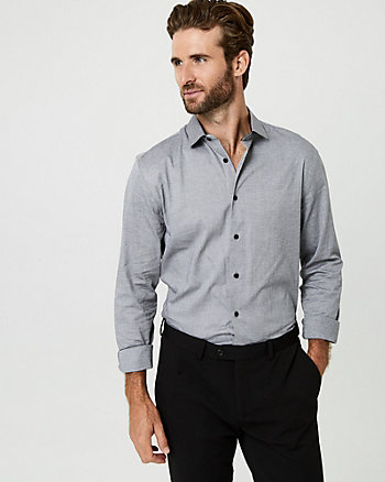Stretch Cotton Tailored Fit Shirt