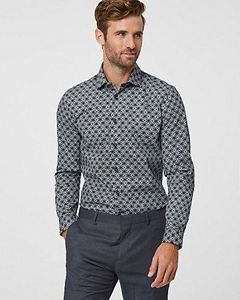 Medallion Print Cotton Slim Fit Shirt