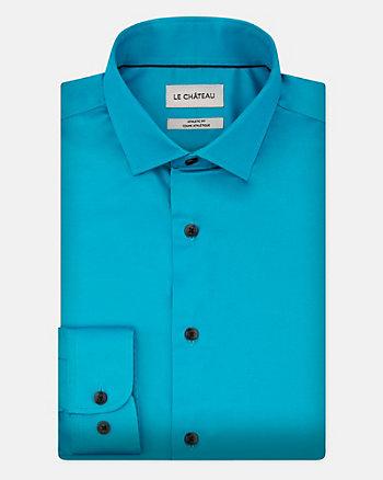Stretch Poplin Athletic Fit Shirt