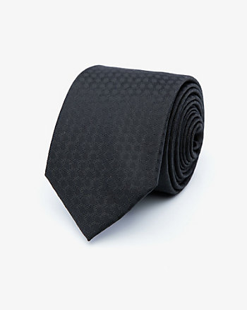 Tonal Geo Print Microfibre Tie