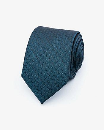 Cravate à motif en microfibre