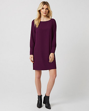 Crêpe Scoop Neck Tunic Dress