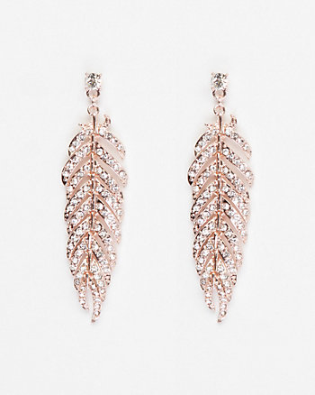 Gem Feather Earrings