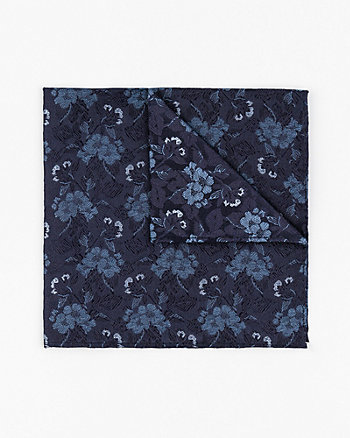 Floral Print Silk Pocket Square
