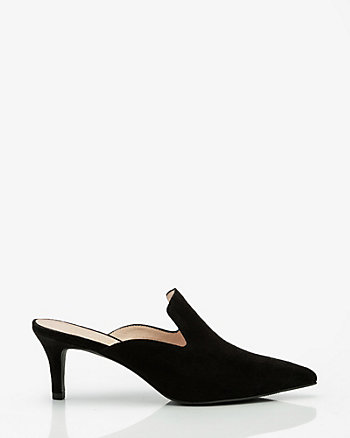 Suede Pointy Toe Mule